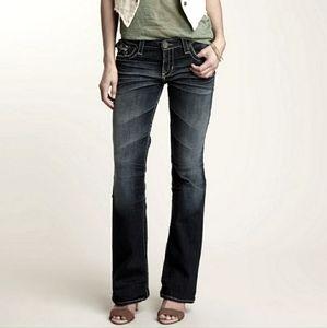 Big Star Miki dark wash studded flap pocket jeans